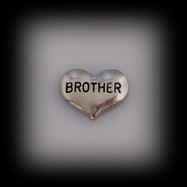 """Brother"" Floating Charm"