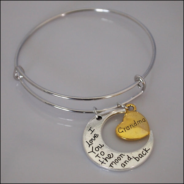 Expandable Bangle - Grandma to the Moon and Back