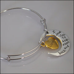 Expandable Bangle - Grandma to the Moon and Back - Find Something Special