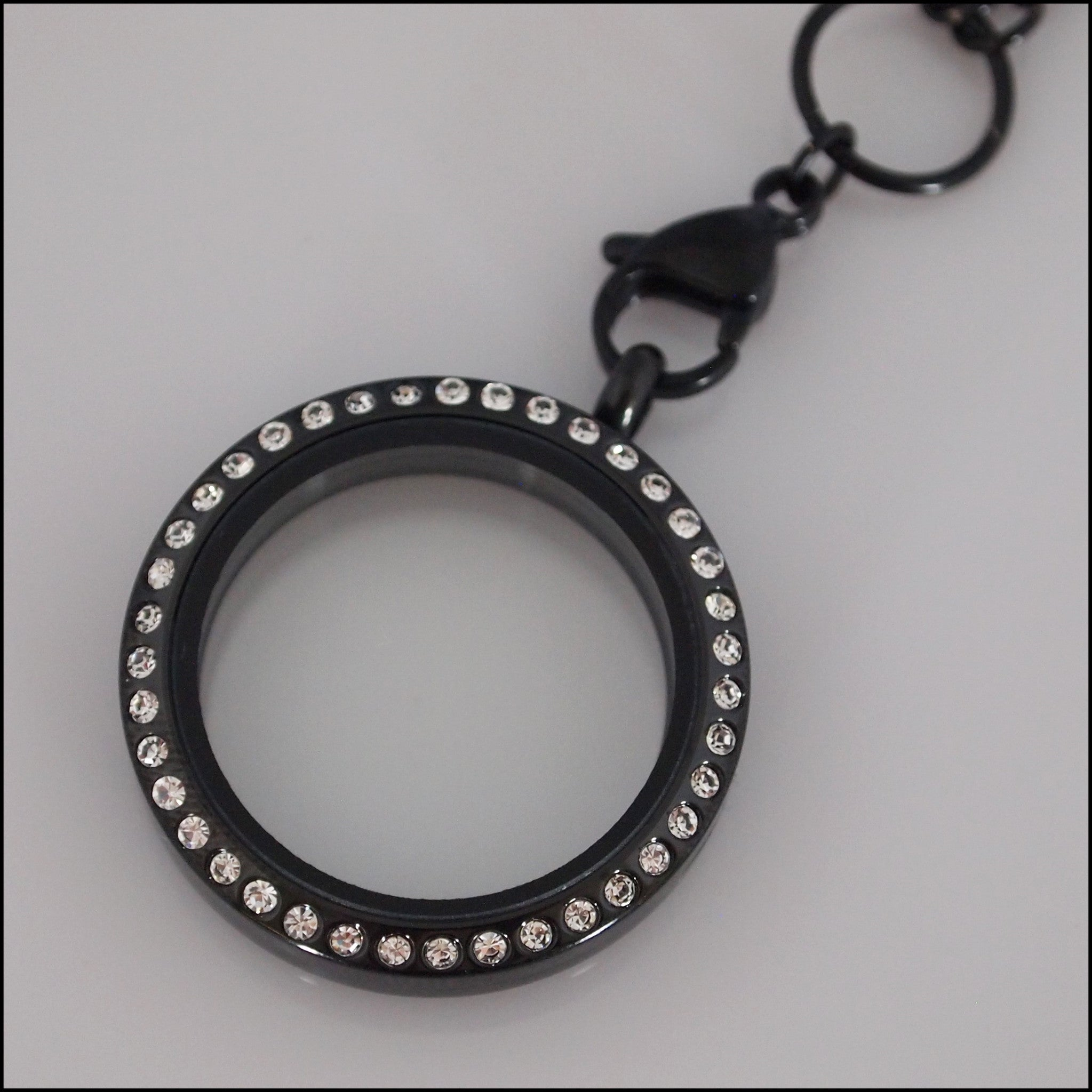 Black Crystal Living Locket - Find Something Special