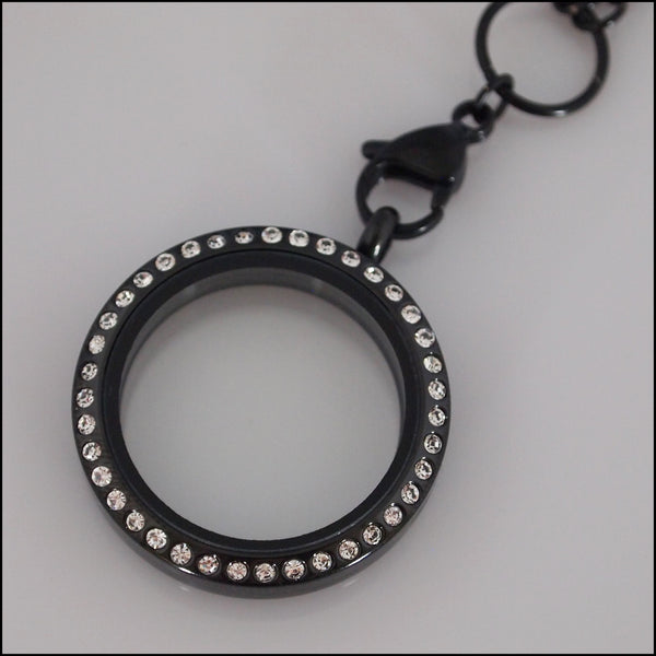 Black Crystal Living Locket