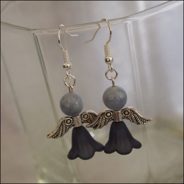 Handmade Earrings - Grey Tones