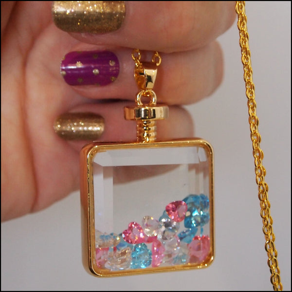 Bottle of Love Glass Pendant