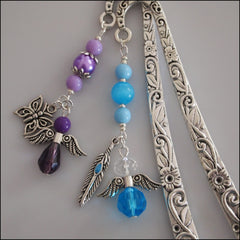 Angel Bookmark - Floral Silver - Find Something Special