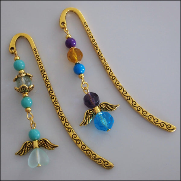 Angel Bookmark - Small Gold