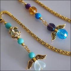 Angel Bookmark - Small Gold - Find Something Special