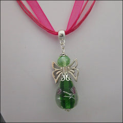 Glass Angel Pendant - Green - Find Something Special