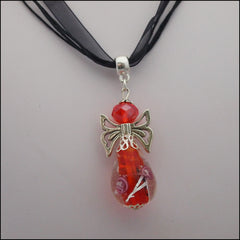 Glass Angel Pendant - Red - Find Something Special