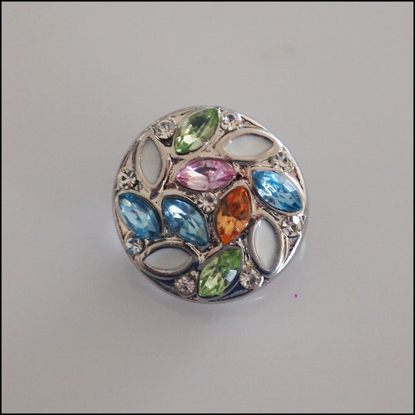 Deluxe Crystal Leaf Snap Button
