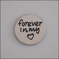 Locket Plate - Forever in my Heart - Find Something Special