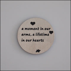 Locket Plate - A Moment in our Arms - Find Something Special