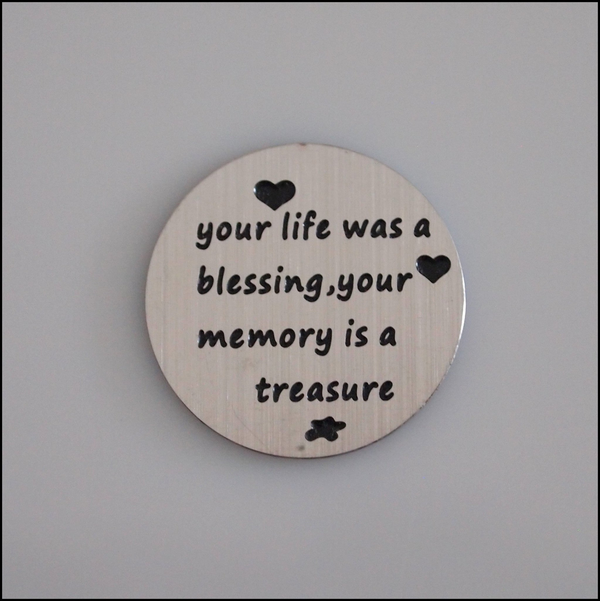 Locket Plate - Your Life was a Blessing - Find Something Special