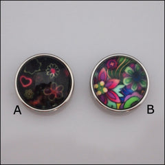 Neon Coloured Print Snap Button - Find Something Special
