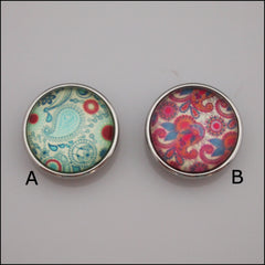 Paisley Print Snap Button - Find Something Special