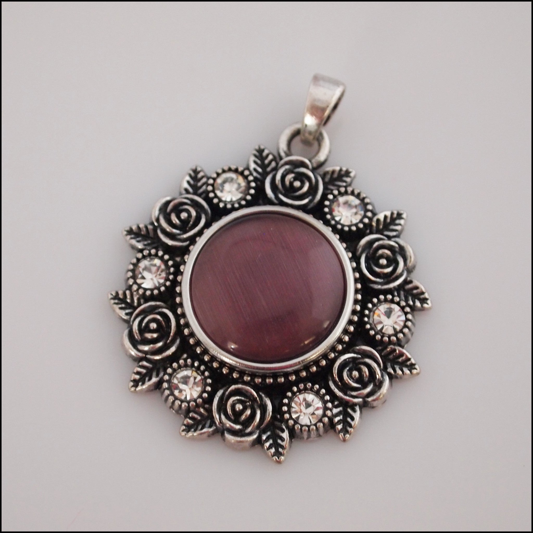 Rose Garden Snap Pendant with Snap Button - Find Something Special