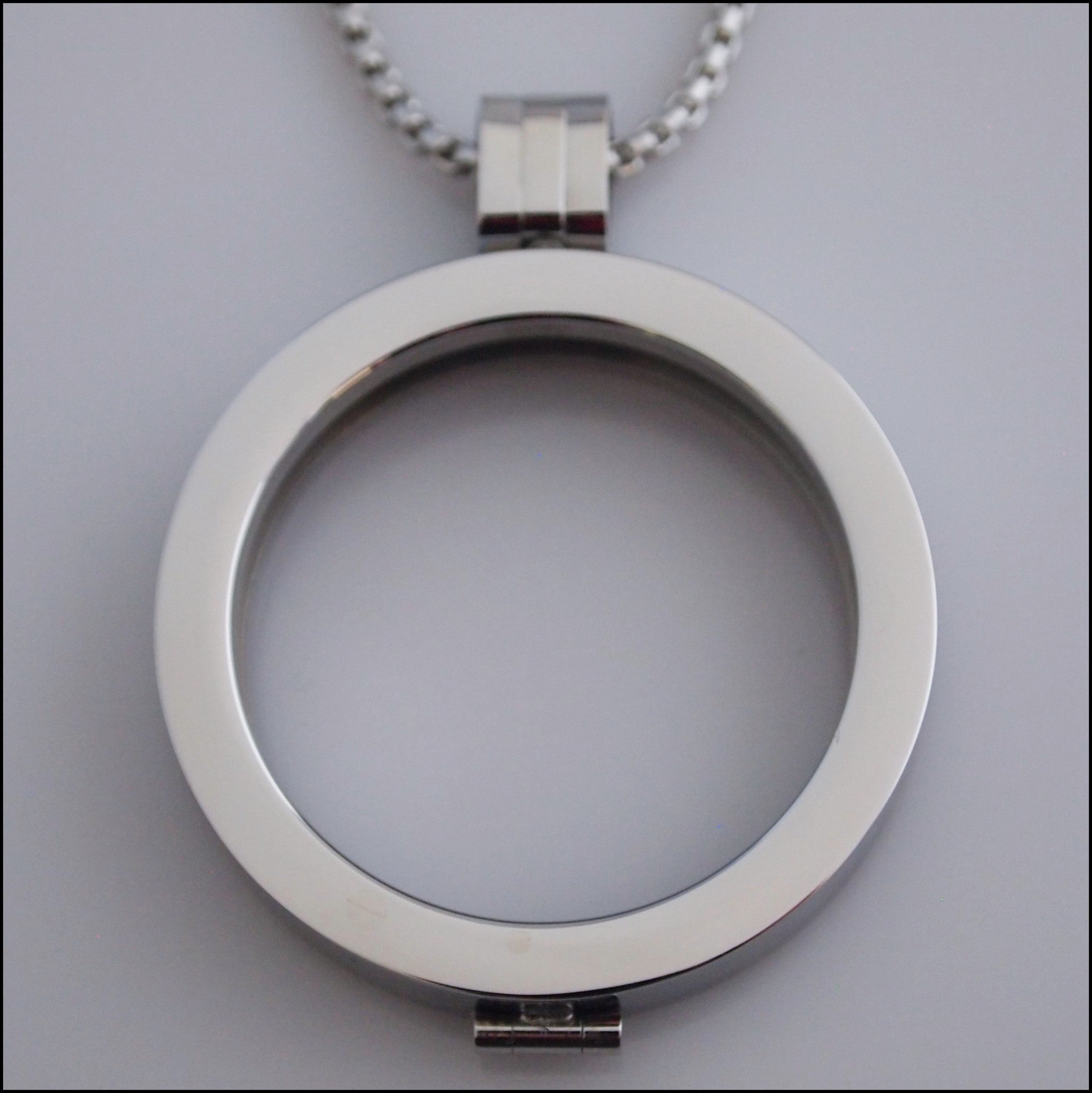 Simple Coin Holder Pendant - Silver - Find Something Special