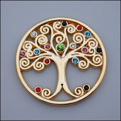 Coin for Coin Pendant - Tree of Life Gold - Find Something Special