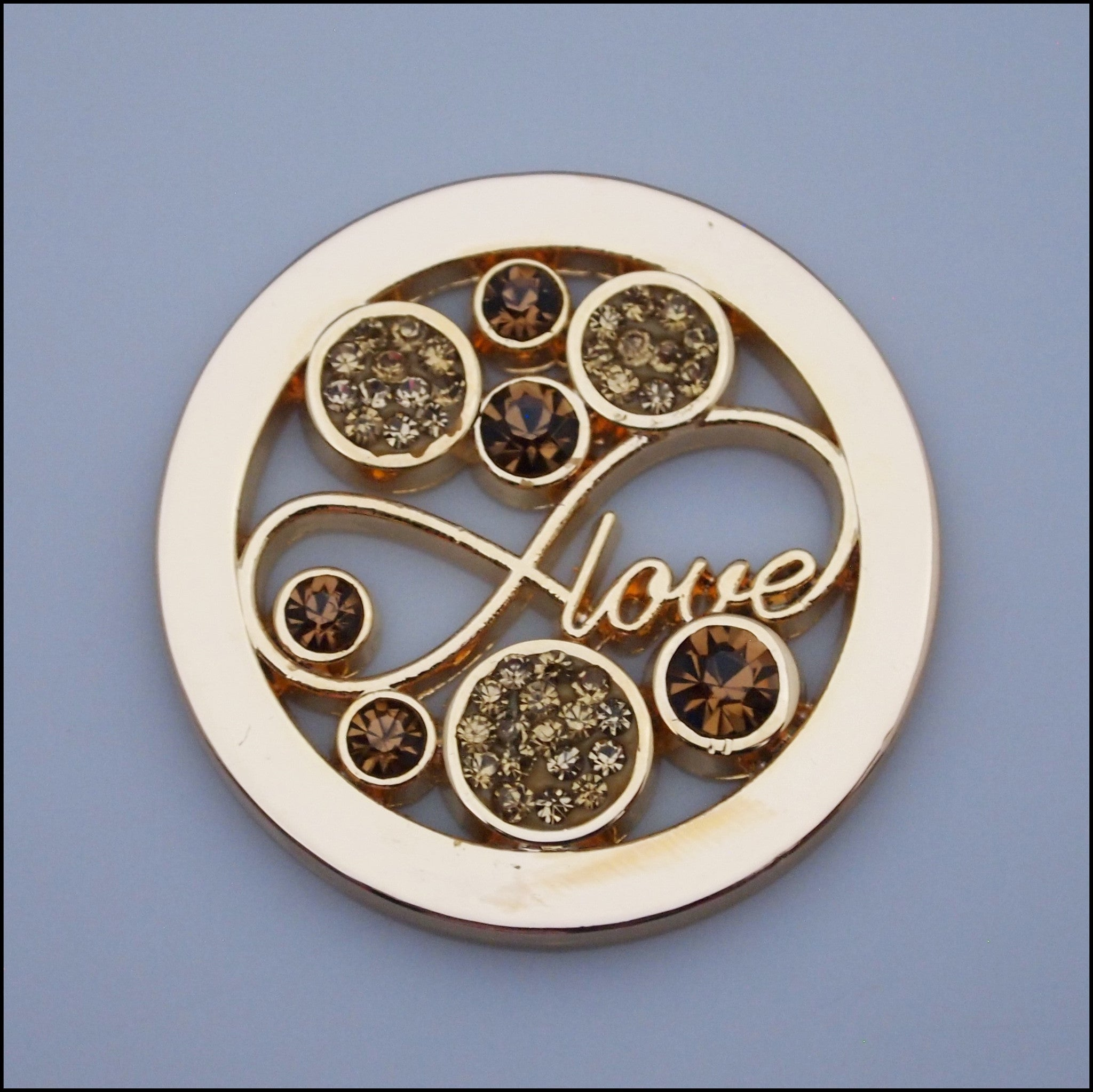 "Coin for Coin Pendant - ""Love"" Gold - Find Something Special"