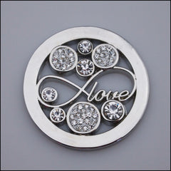 "Coin for Coin Pendant - ""Love"" Silver - Find Something Special"