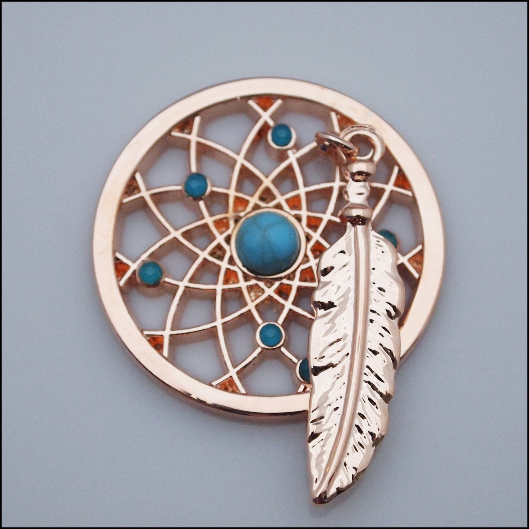 Coin for Coin Pendant - Dream Catcher Rose Gold - Find Something Special