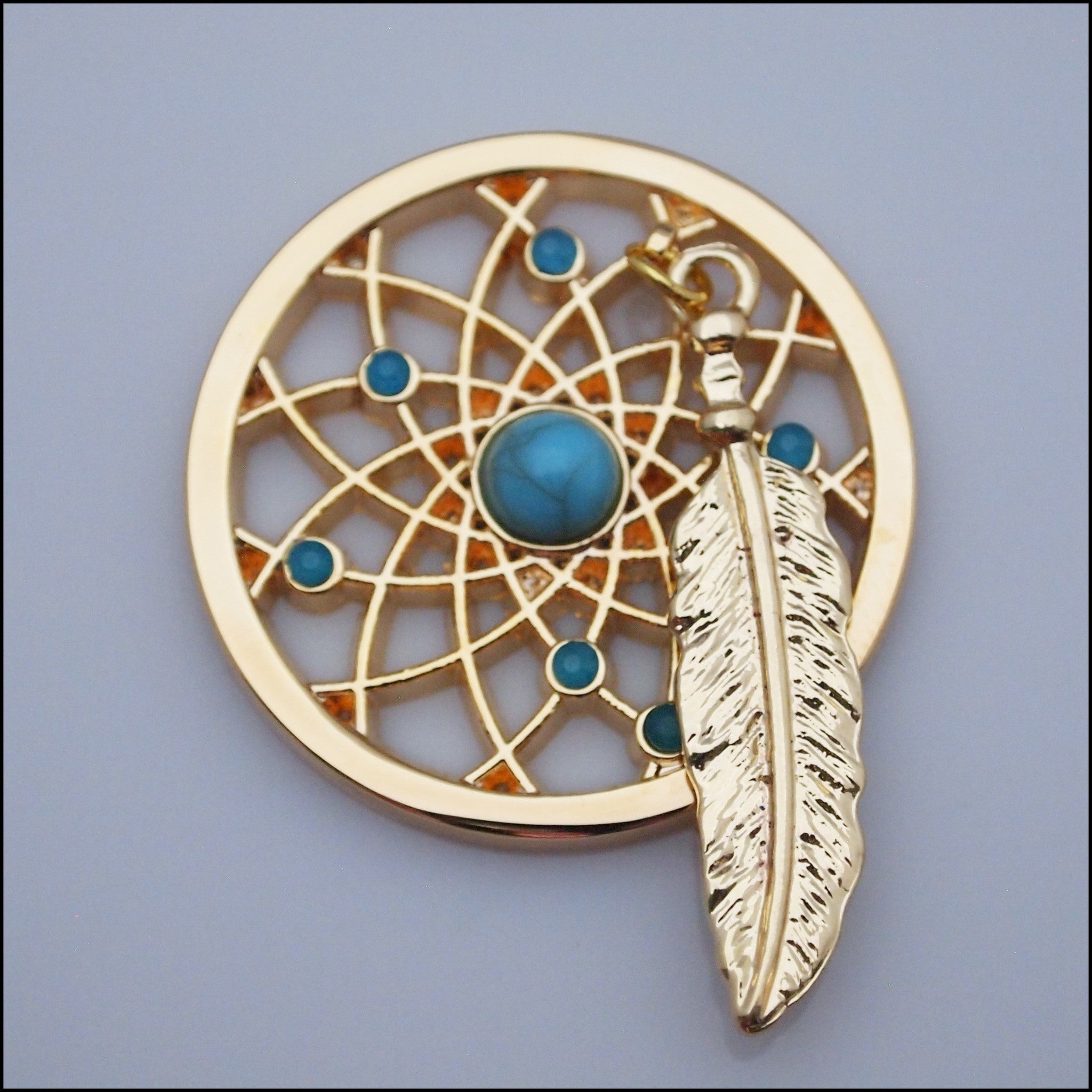 Coin for Coin Pendant - Dream Catcher Gold - Find Something Special