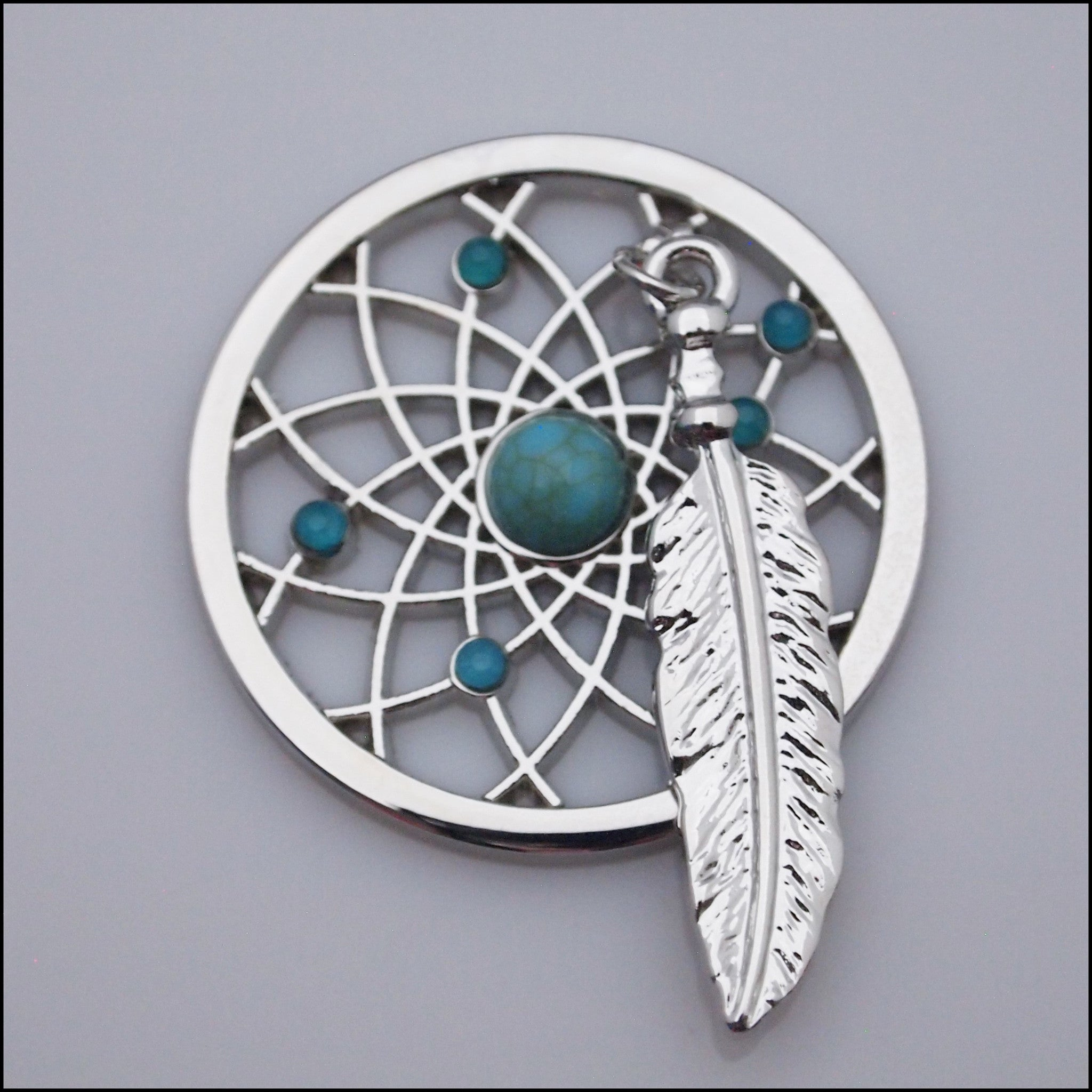 Coin for Coin Pendant - Dream Catcher Silver - Find Something Special