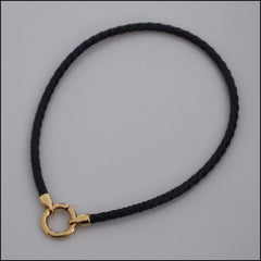 Rolo Leather Bracelet with Charms - Gold Plated - Find Something Special - 3
