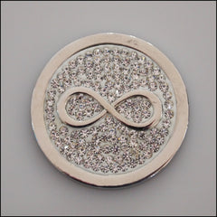 Coin for Coin Pendant - Crystal Infinity Silver - Find Something Special