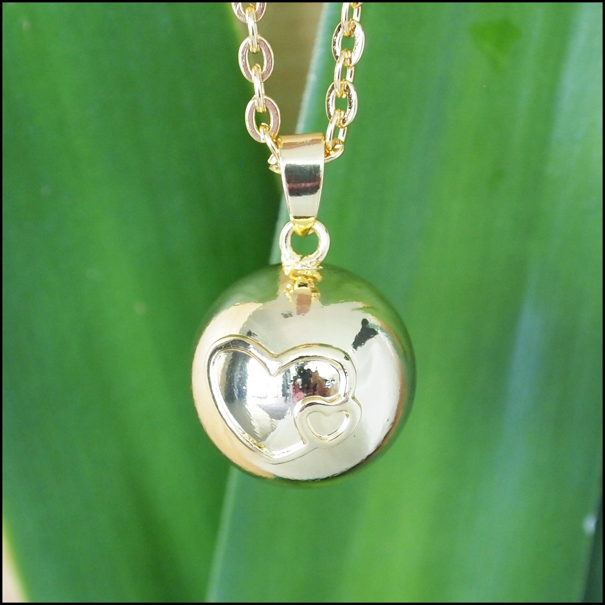 Two Hearts Harmony Ball - Gold on Gold
