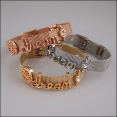 Mesh Slide Charm Bracelet - Dream