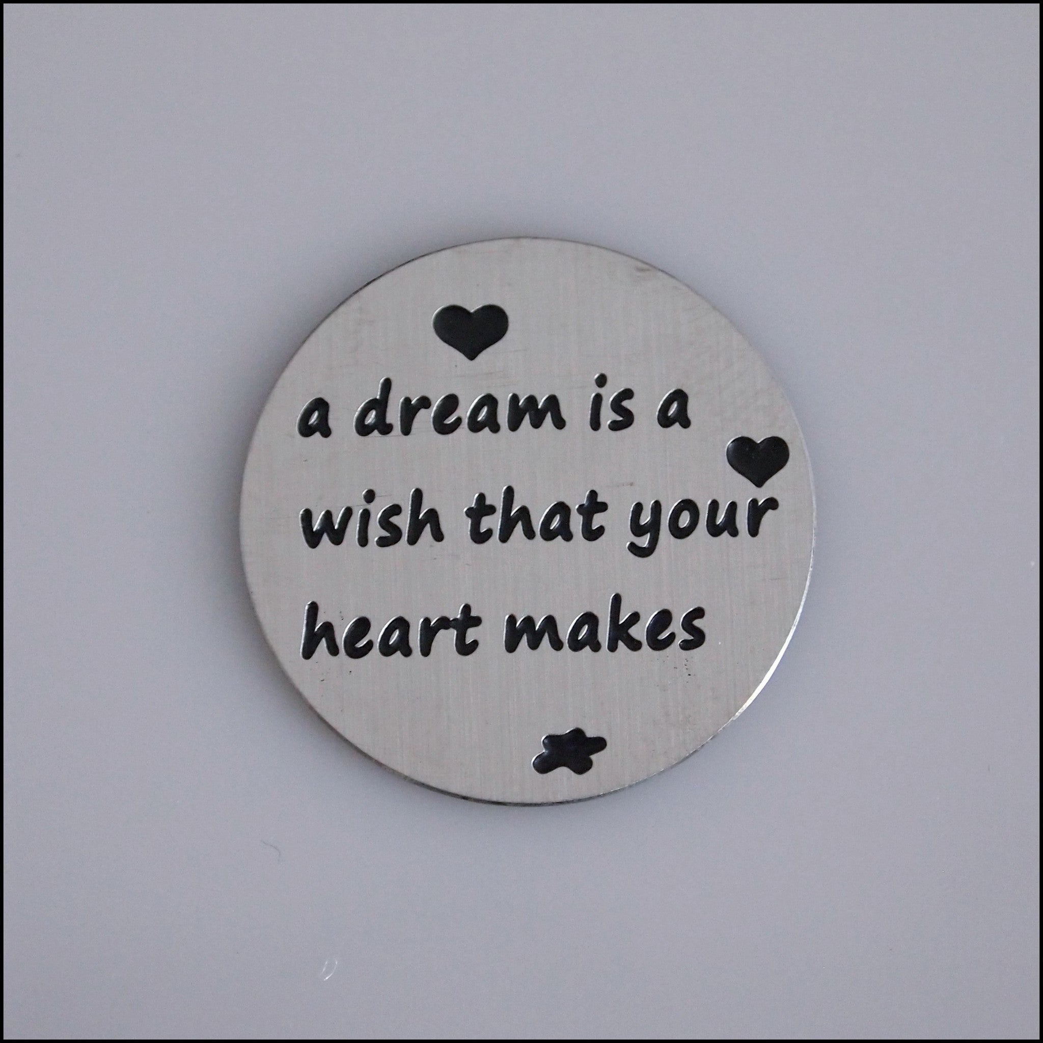 Locket Plate - A Dream is a Wish