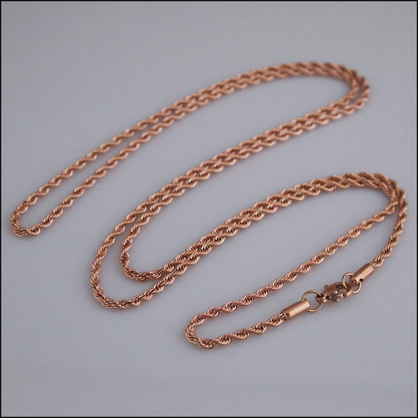 Rose Gold Twist Chain for Coin Pendant