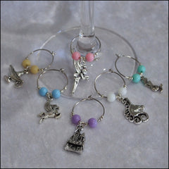 Handmade Wine Glass Charms - Set of 6 Fairytale