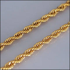 Gold Twist Chain for Coin Pendant