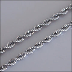 Silver Twist Chain for Coin Pendant
