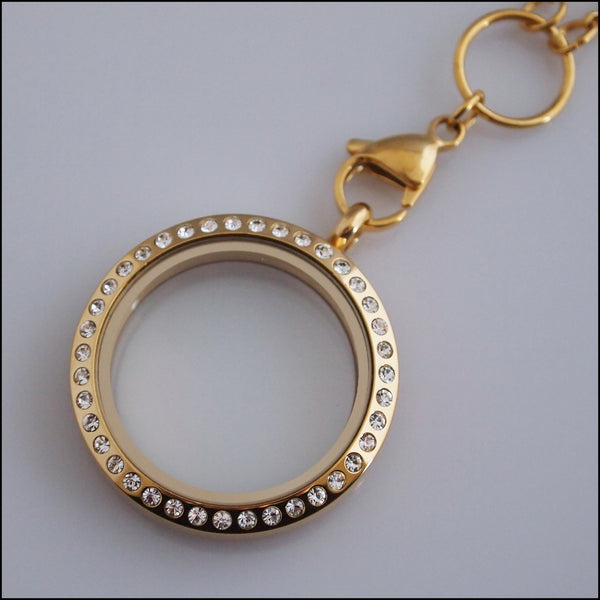 Gold Crystal Living Locket
