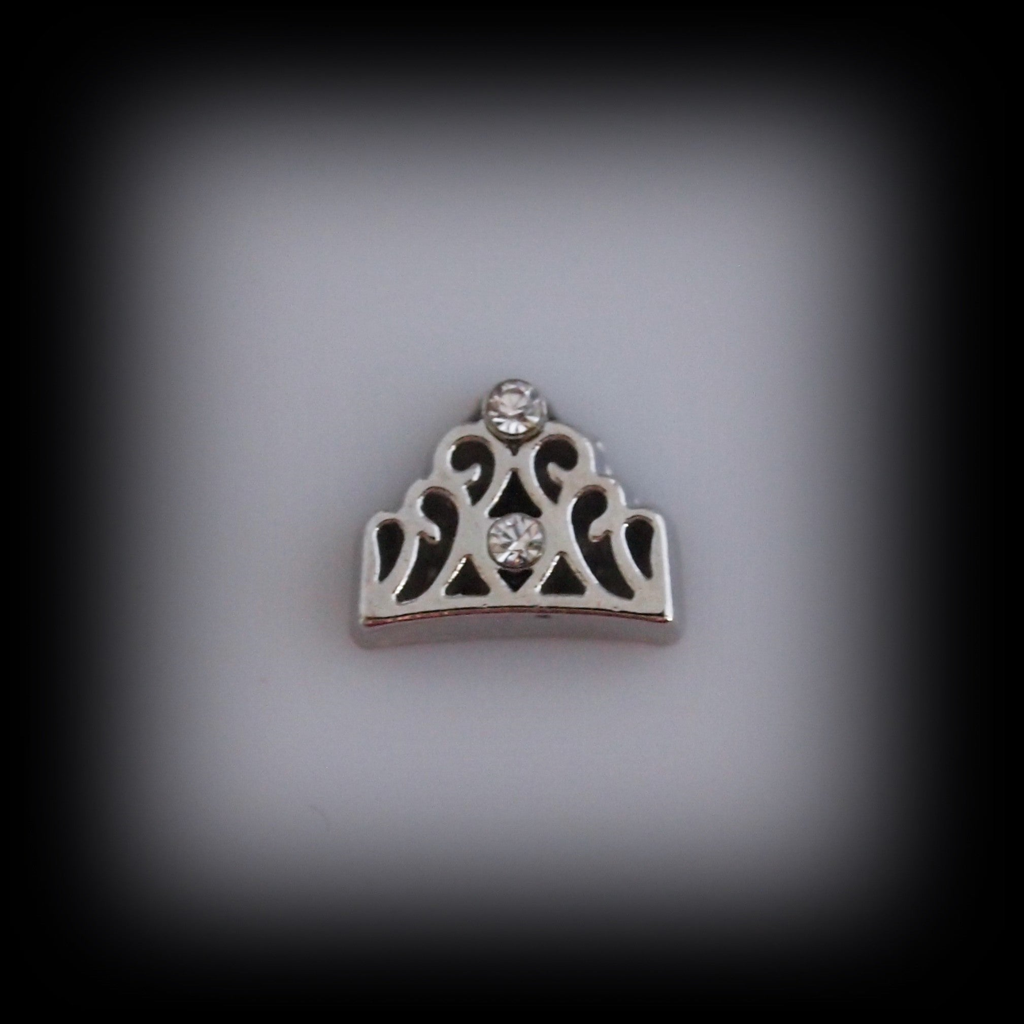 Silver Crown Floating Charm