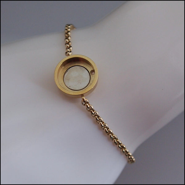 Magnetic Coin Bracelet - Gold
