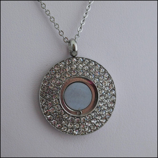 Magnetic Coin Pendant - Silver