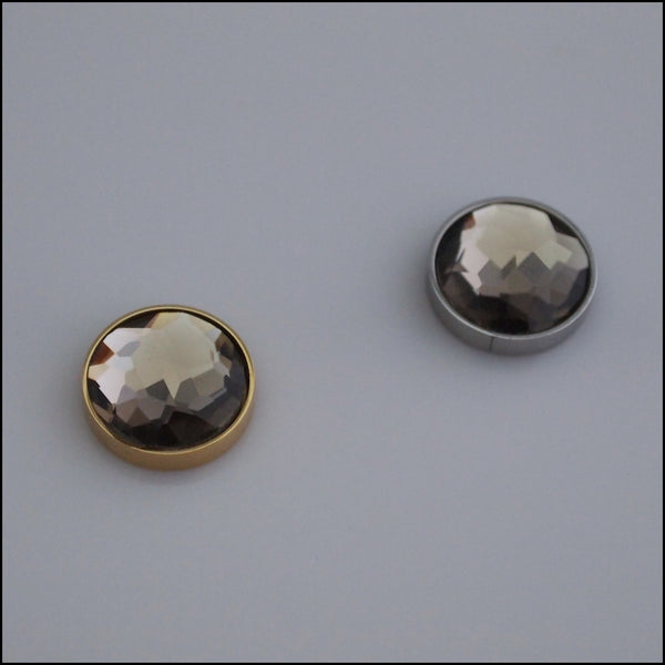 Single Mocha Crystal 12mm Magnetic Coin