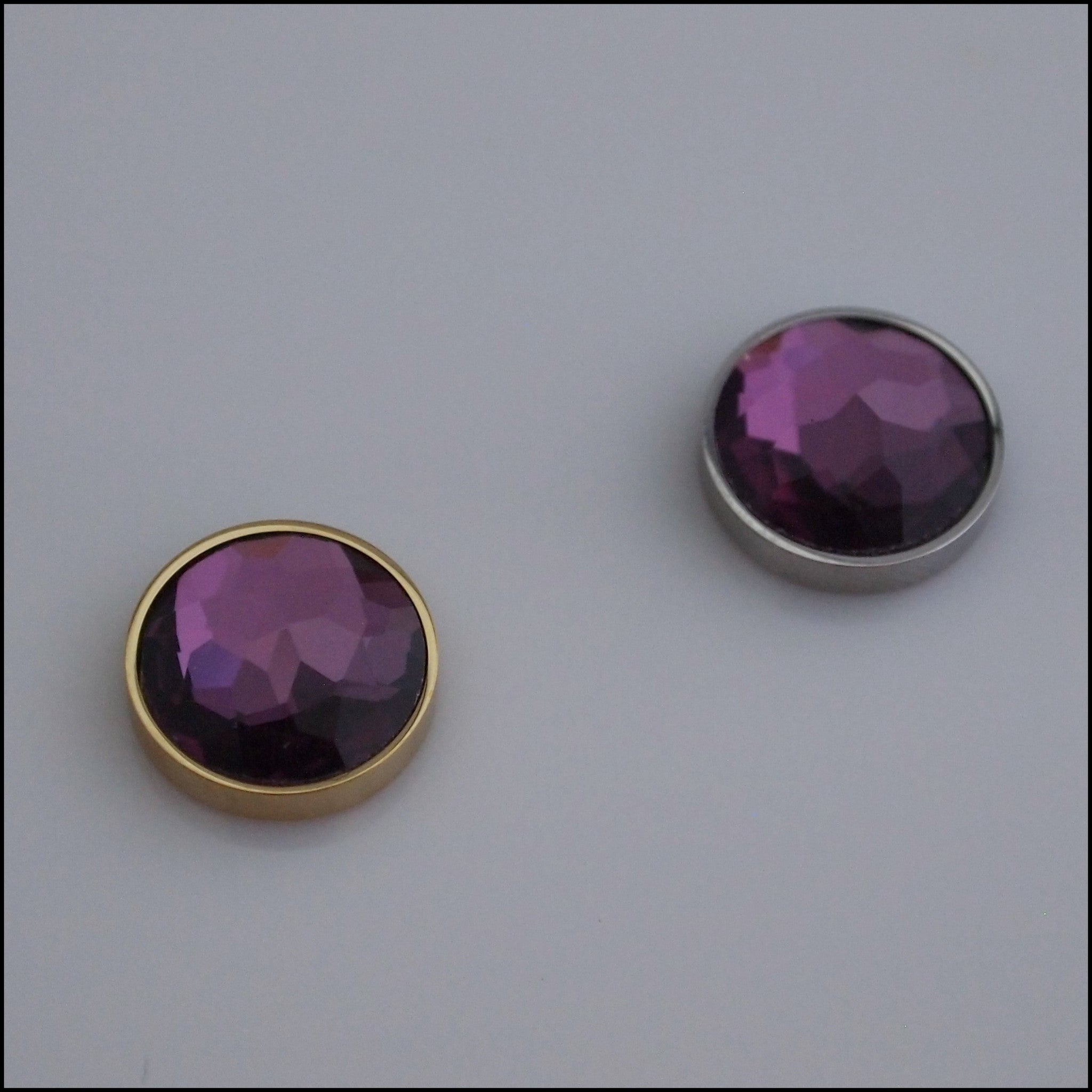 Single Amethyst 12mm Magnetic Coin