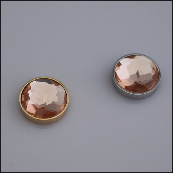 Single Champagne Crystal 12mm Magnetic Coin