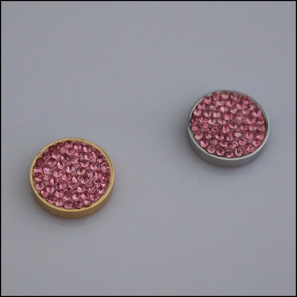 Pave Crystal Pink 12mm Magnetic Coin