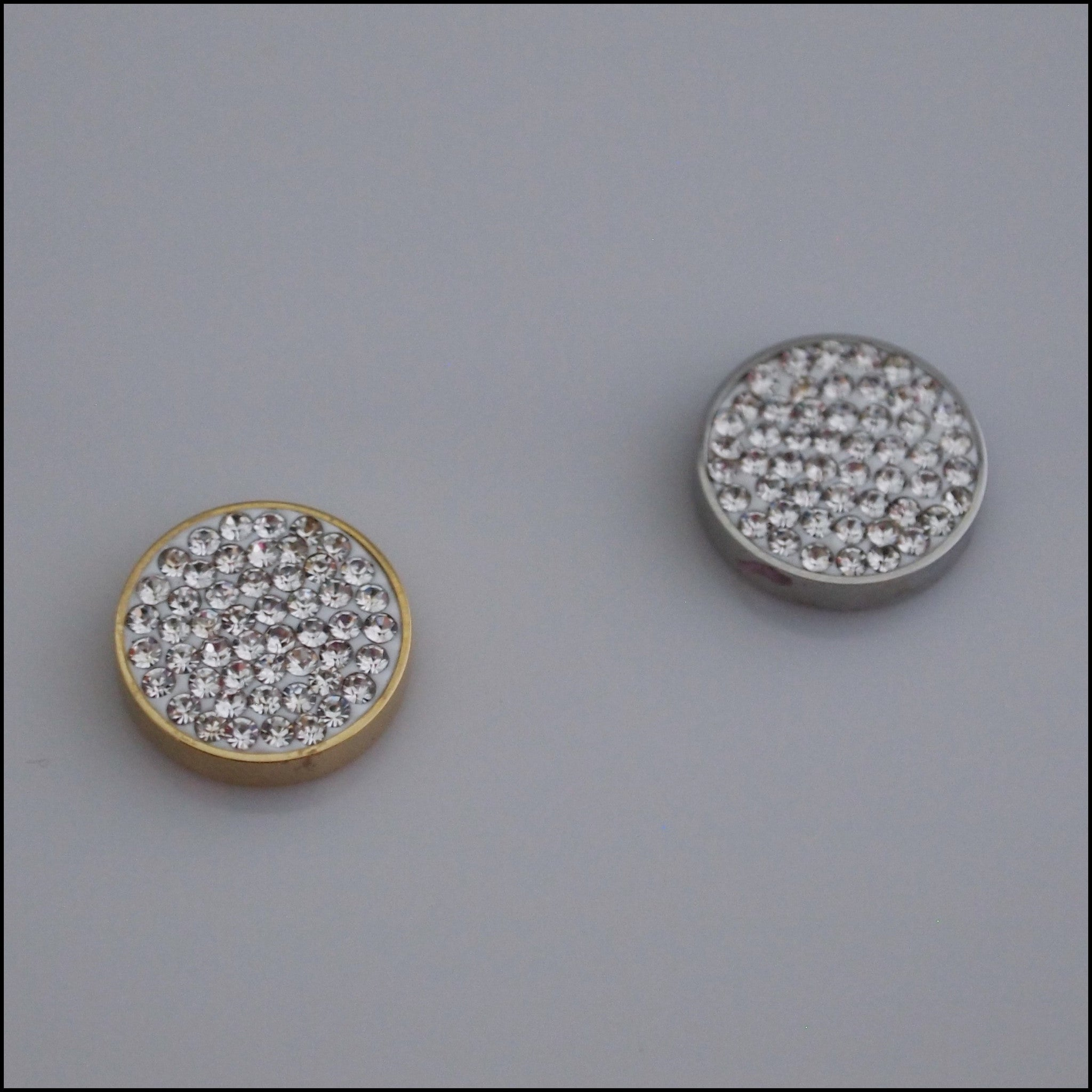 Pave Crystal White 12mm Magnetic Coin