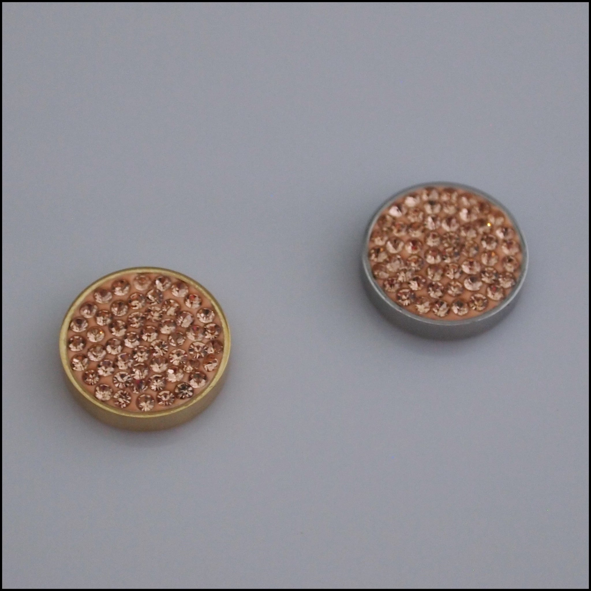 Pave Crystal Champagne 12mm Magnetic Coin