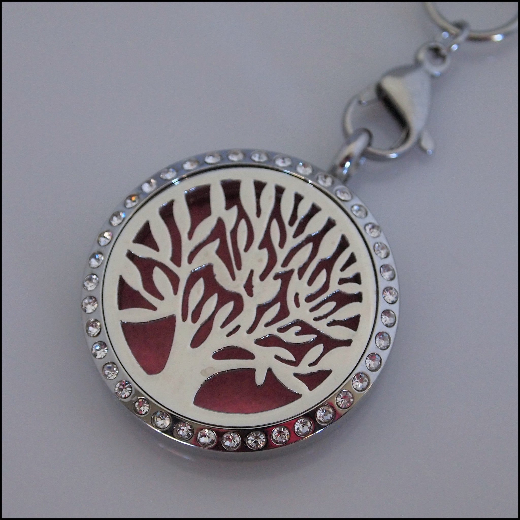 Crystal Tree of Life Perfume Pendant
