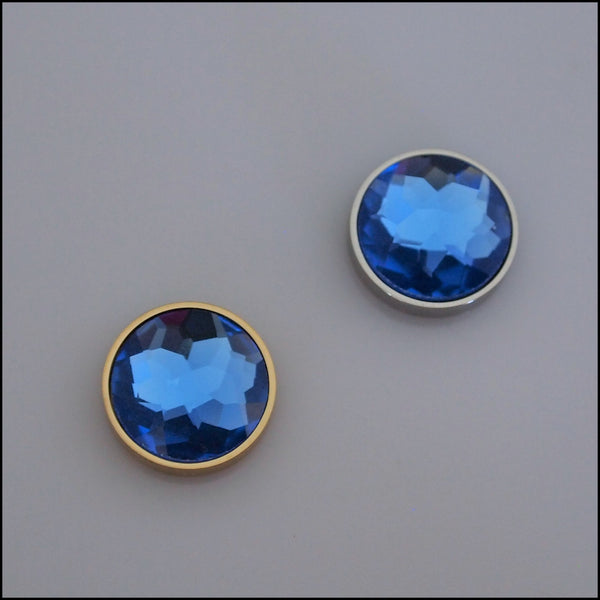 Single Blue Crystal 12mm Magnetic Coin