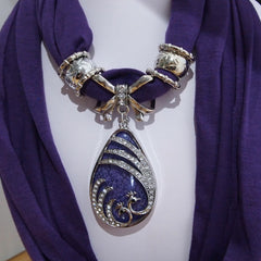 Pendant Scarf - Purple