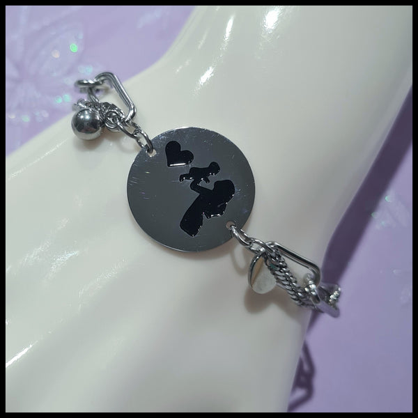 Stainless Steel Mother & Child Bracelet