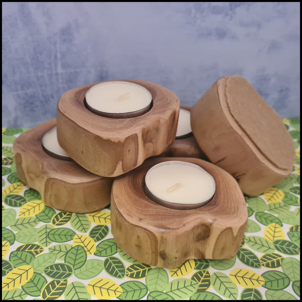 Handmade Timber Tea Light Holder (1 Piece)